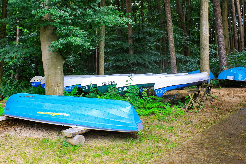 Kanuboote des Waldhof am Stolpsee