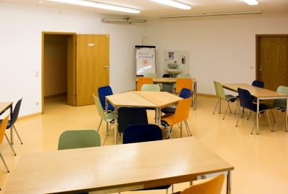 Lernen im Seminarraum des Waldhof Zootzen
